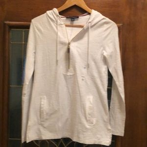 Tommy Hilfiger white hooded shirt